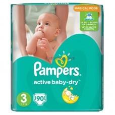 Подгузники Pampers Active Baby 3 90 шт