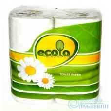 Туалетная бумага Ecolo 2 слоя 4 рулона