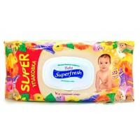 Детские влажные салфетки Baby Superfresh с экстрактом календулы 120 шт