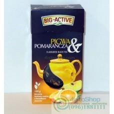 Чай черный Big Active апельсин айва листовой 100г