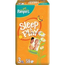 Подгузники Pampers Sleep&Play 3  58 шт (4-9 кг)