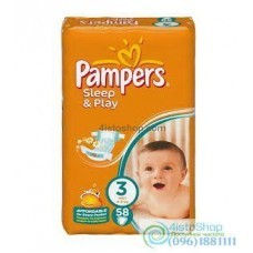 Подгузники Pampers Sleep&Play 3 (4-9 кг) 58 шт
