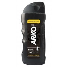 Гель для душа и шампунь Arko Men 2 in 1 Black 260 мл