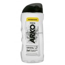 Гель для душа и шампунь Arko Men 2 in 1 Crystal 260 мл