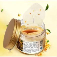Тканевая маска-патчи BIOAQUA Golden Osmanthus Nourishing Eye Mask с цветками золотого османтуса 140г/80шт