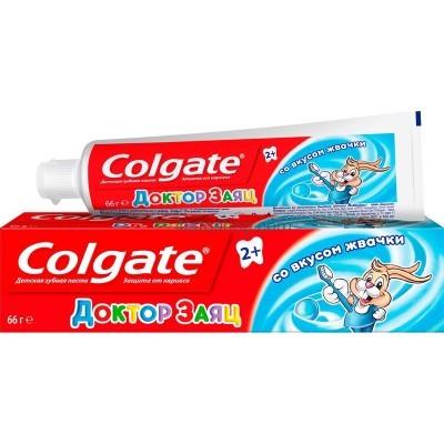 Детская зубная паста Colgate Доктор Заяц со вкусом жевательной резинки