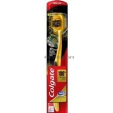 Зубная щетка Colgate 360° Золотая с древесным углем мягкая