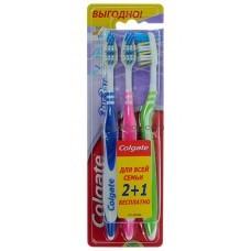 Зубные щетки Colgate ЗигЗаг Плюс средней жесткости 2+1 шт