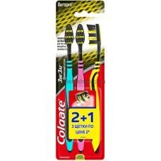 Зубные щетки Colgate ЗигЗаг Древесный уголь 2+1 шт