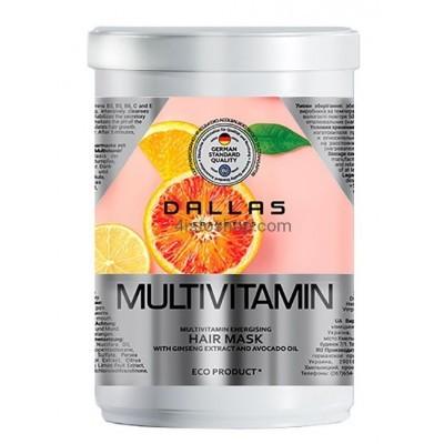 Энергетическая маска для волос Dallas с комплексом мультивитаминов 1000 мл