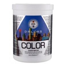 Маска для окрашенных волос Dallas с льняным маслом и УФ-фильтром, 1000 мл