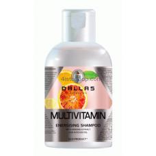 Шампунь мультивитаминный энергетический с экстрактом женьшеня и маслом авокадо Dallas Multivitamin 500мл