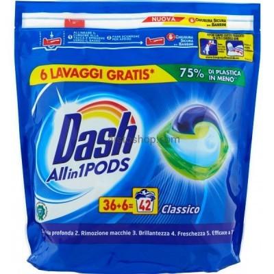 Капсулы для стирки универсал Dash Classico 3 в 1 42 шт