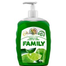 Жидкое мыло Family Алоэ и лайм 500мл