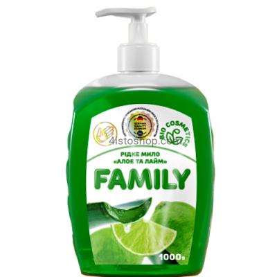 Жидкое мыло Family Алоэ и лайм 1000мл