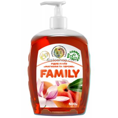 Жидкое мыло Family Магнолия и персик 500мл