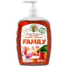 Жидкое мыло Family Магнолия и персик 1000мл