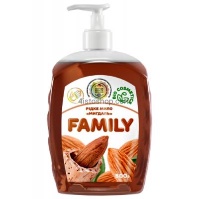 Жидкое мыло Family Миндаль 500мл