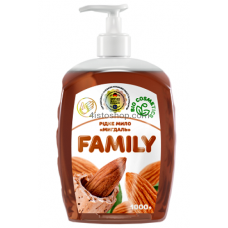 Жидкое мыло Family Миндаль 1000мл