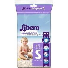 Подгузники Libero Swimpants Small для бассейна от 7 до 12 кг 6 шт