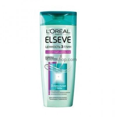 Шампунь L'Oreal Paris Elseve Ценность 3 глин для нормальных волос склонных к жирности 400 мл