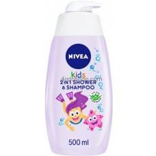 Детский гель для душа и шампунь Nivea 2в1 для девочек 500 мл