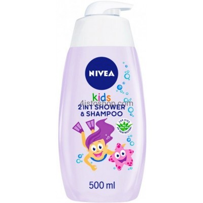 Детский гель для душа и шампунь Nivea 2в1 для девочек