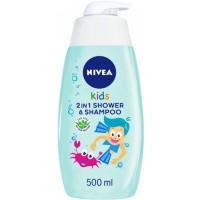 Детский гель для душа и шампунь Nivea 2в1 для мальчиков 500 мл