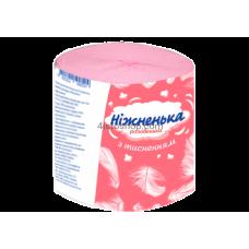 Туалетная бумага розовая с тиснением ТМ Нижненька 8 рулонов