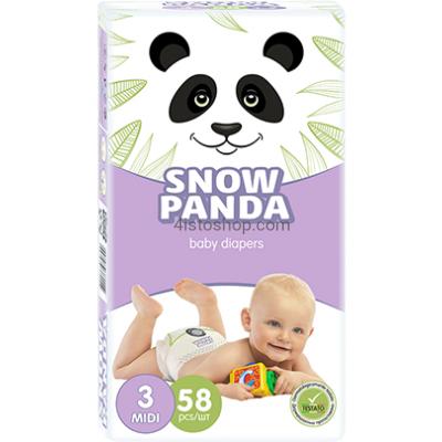 Подгузники Снежная Панда 3  58 шт