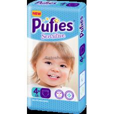 Подгузник детский Pufies Sensitive Maxi + 4+ 9-16 кг 50 шт