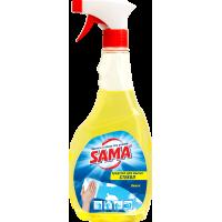 Средство для мытья стекол SАМА Лимон с распылителем 500 мл