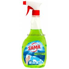 Средство для мытья стекол SАМА Яблоко с распылителем 500 мл