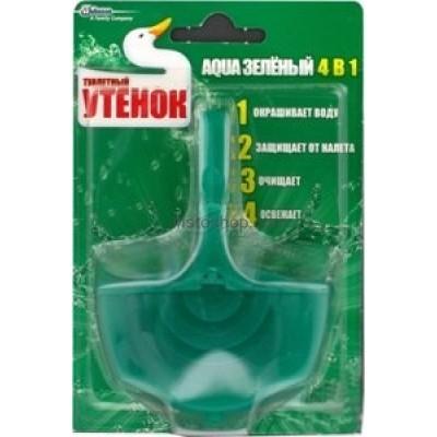 Туалетный утенок подвесной очиститель для унитаза AQUA 4в1 Зеленый