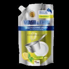 Средство для мытья посуды Wash Free лимон и мята 500г