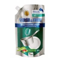 Средство для мытья посуды Wash Free экстракт алоэ вера и лесной земляники 500г