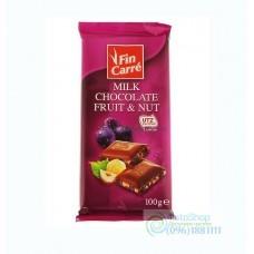 Молочный шоколад Fin Carre fruit nut 100 г