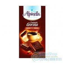 Шоколад черный Alpinella горький 90г