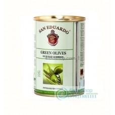 Оливки зелёные San Eduardo без косточки 300 г