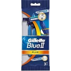 Оригинал! Набор одноразовых бритвенных станков Gillette Blue ІІ Plus 3шт