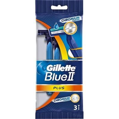 Набор одноразовых бритвенных станков Gillette Blue ІІ Plus 3шт
