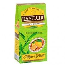 Чай зеленый Basilur Магические фрукты Лимон и мед картон 100г