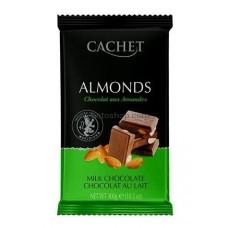 Шоколад молочный CACHET Milk Chocolate with Almonds с миндалём 300 г