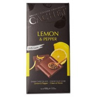 Шоколад Cachet Dark Lemon and Pepper 100г