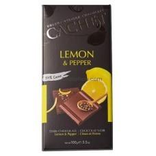 Шоколад Cachet Dark Lemon and Pepper 100г