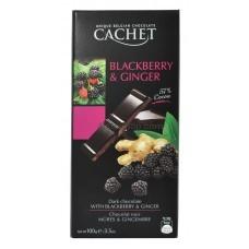 Шоколад Cachet Dark Chocolate Blackberry and Ginger 100г