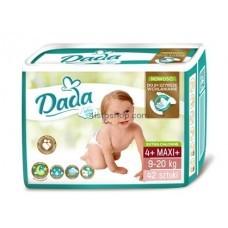 Подгузники Dada 4 +  Extra Soft Maxi от 9 до 20 кг 42 шт