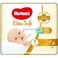 Подгузники Huggies 1 Elite Soft 2-5 кг 25 шт