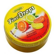 Леденцы Woogie Fine Drops со вкусом апельсина и лимона 200 г
