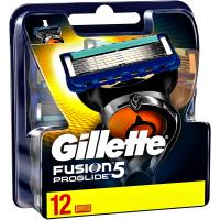 ОРИГИНАЛ!!! Gillette Fusion5 ProGlide сменные кассеты для бритья 12шт